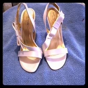 Kate spade satin bow heels.perfect wedding shoes